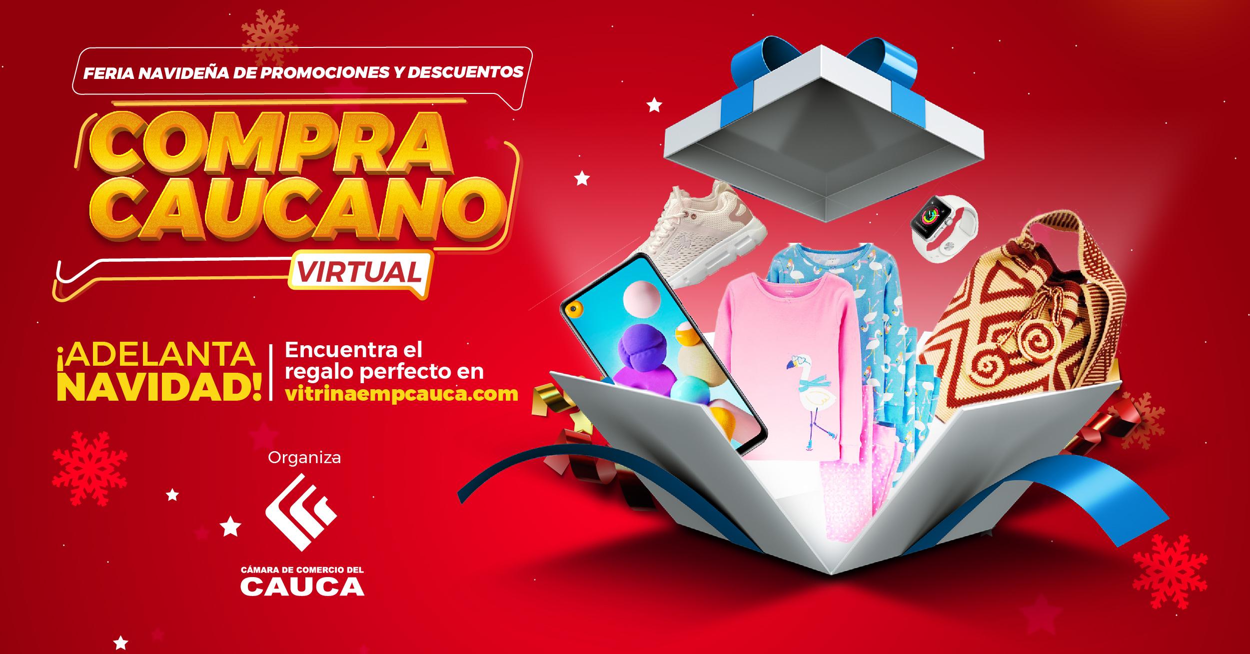 Feria Navideña de Promociones y Descuentos Compra caucano